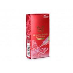 JEX 魅力蝴蝶士多啤梨 乳膠安全套一盒六個