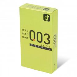 岡本。零零三 0.03 蘆薈 (日本版) 10 片裝 乳膠安全套