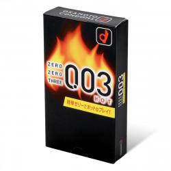 岡本。零零三 0.03 熱感 (日本版) 10 片裝 乳膠安全套