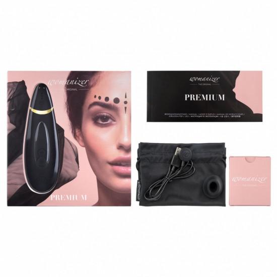 Womanizer Premium 陰蒂吸啜器 - 黑色
