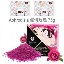 SHUNGA 泡沫水晶死海浴鹽75g - 催情玫瑰